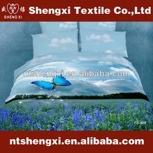 100% cotton bedding set king size luxury wedding duvet cover set 3d reactive printed colorful adult bedding sets