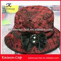 2014 caliente venta hermoso fashional por encargo barato pesca cubo tapa/sombrero con el patrón impreso