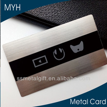 stainless steel brushed high end business cards