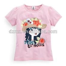 fashion custom printing beautiful girl t-shirt