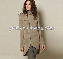 giacca di maglia di ragazze cappotto caldo con bottoni e tasche cappotto