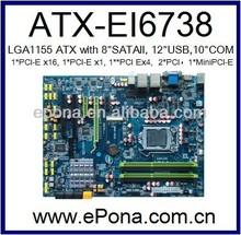 Intel LGA1155 I3, I5, I7 supported ATX motherboard based on Intel H67 for Server
