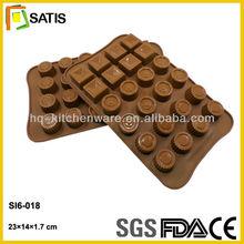 square round shapes silicone moldes de silicon para chocolates