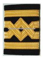 insignia captain master epaulettes gold