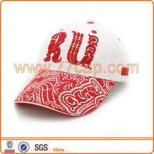 Unique russian baseball cap ,3D embroidery logo with printing peak cap