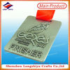 Portgual 3d antique silver custom metal medal,brushed cycling medals for champion