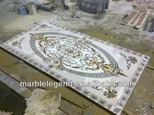PFM wholesale water jet marble and granite medallion