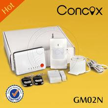 Concox power failure alarm sms GM02N safety equipment with smoke detector/ PIR sensor for home/office/garage/ villa