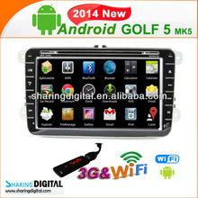 SharingDigital VW Golf 5 Golf 6 Built-in GPS/Canada andriod Map car gps navigation system