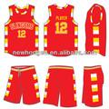la costumbre china de baloncesto sublimación de uniformes para las mujeres