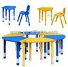 Colorful designs of children study desk and chair for writing