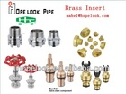 Hot sale PVC/ PPR pipe fitting brass inserts and valve inserts for plastic tube fitting