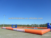 summer cool water inflatable soccer arena / inflatable stadium soapy soccer