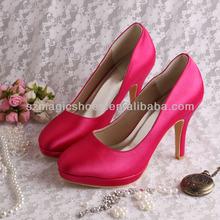 Custom Made Fuchisa Wedding Bridal Shoes