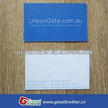 Deep blue custom paper business card