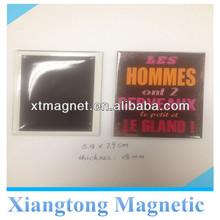 Size 5.4*7.9cm Let Hommes ont 2 cerve aux Souvenirs Custom Printed Tin Plate Fridge Magnet /Custom Metal Fridge Magnets