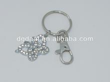 Crystal zinc alloy keychain butterfly keychain
