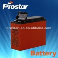 Prostar long life time front terminal batteries 12v 55ah
