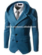 Newest design men luxury winter fur collar black long dwon jackets