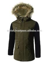 Top Grade Luxurious men Winter Black Ostrich Hair Fur Jackets