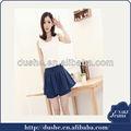 2014 meninas mini saias jeans e shorts