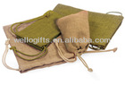 fantastic organic drawstring burlap pouch bag for special gifts