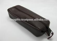 ADASGC - 0022 Zippered Eye Glass Pouch / leather eye glass cover/