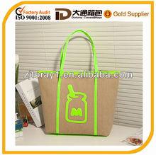New arrival fashion cotton canvas shoulder bag handbag tote bag