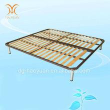 China proveedor profesional muebles de dormitorio de hierro alta calidad y madera marcos de cama