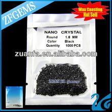 brilliant cut black nano stone imitation diamond synthetic gems