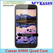 5.7 inch Caesar A9800 Smart phone MTK6589 Quad Core Dual Sim Android 4.1.2 Phone Mobile