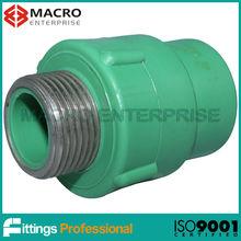 DIN 16962 green PPR fittings male coupler
