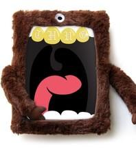 ilovehandles original cyclops - protective stuffed plush case for ipad 2/3/4 with microfiber hands