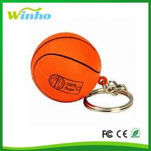 Anti-Stress PU Foam Football & Basketball Key Ring