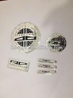 metal embossed label for door, metal furniture label, silver aluminum label.
