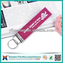 2014 cheap promotional customize felt pu key chain