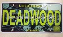 nice printed number plate, wholesaler license plate