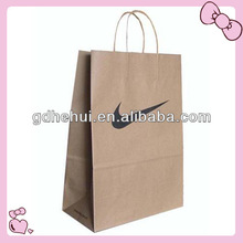 2014 good quality cheap brown paper handle bags