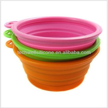 Non-toxic colorful collapsible silicone bowls