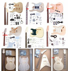 China Aiersi Cheap Price Unfinished DIY Electric Wooden Guitar Kits