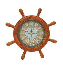Hot Sale nautical wooden ship wheel clock,antique ship wheel wall clock
