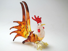 FARM CRAFT MINIATURE HAND BLOWN GLASS Chicken FIGURINE Animals
