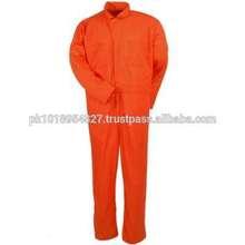 Dark Orange Color Cotton/polyester men adult jumpsuit for work