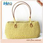 Fashion Lady Paper Woven Straw Handbags Wholesale Summer Straw Beach Bag