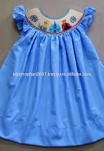 Frozen smocked dress for girls infant toddler 2014