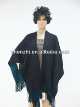 100%ACRYLIC KNITTED SHAWL AND RUANA