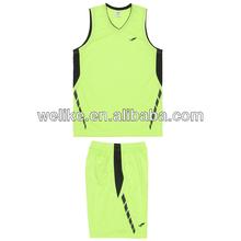 Fluorescent green basketball shirts college basketball jerseys for sale wholesale basketball uniform