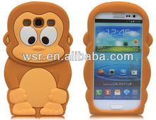 New Cute 3D monkey Silicone Skin case