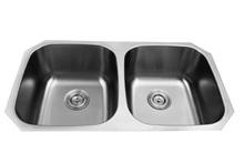 american style 50/50 undermount sink