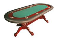 Texas Holdem 96 inch Deluxe Mahogany Poker Table
